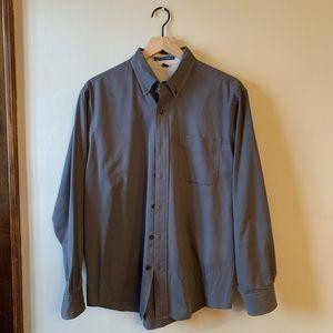 Mens' Button Down Steel Gray Shirt